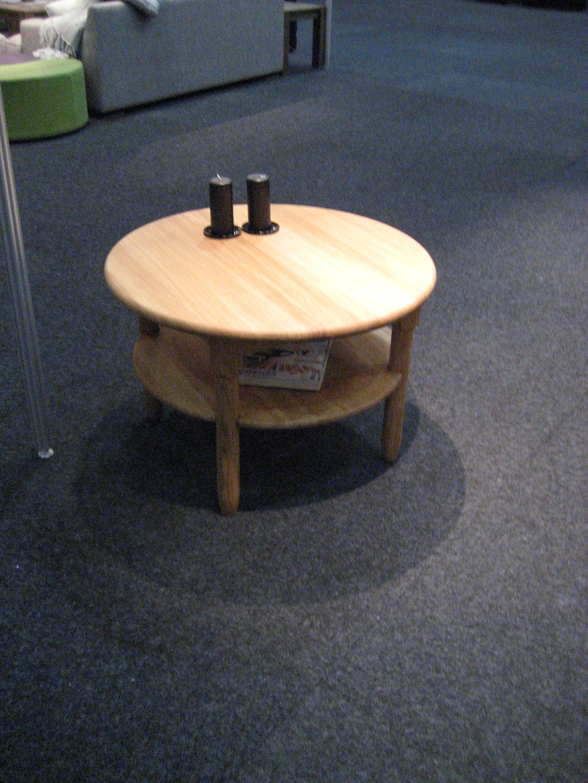 Ø Sofabord med rund hylde